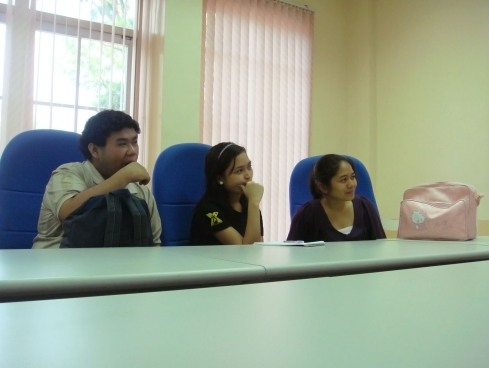 My classmates during the meeting